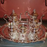 tea set silver service silver plate repair after