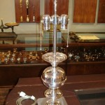 table lamp | silver plate | restoration | after