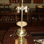 table lamp | silver plate | restoration | before