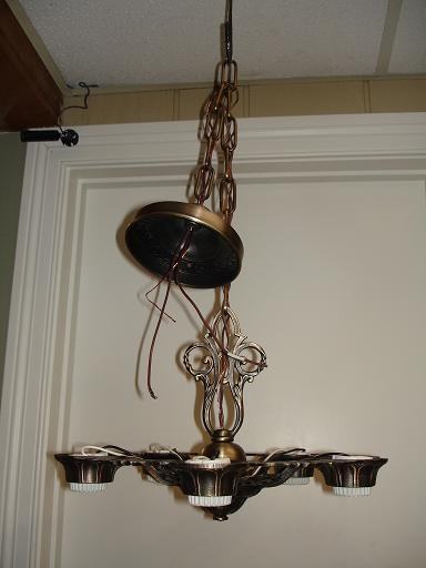 ceiling fixture | antique satin brass | matte laquer | after