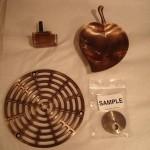 bathroom hardware   bronze and lacquer   restoration
