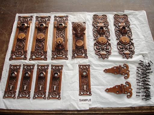 hardware restoration | antique copper | after