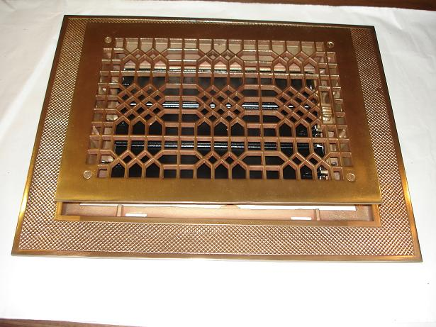 floor grate restoration | brass plate | high heat paint