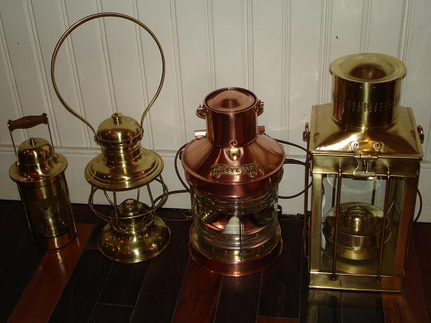 lanterns | copper &amp; brass | polish &amp; lacquer | after