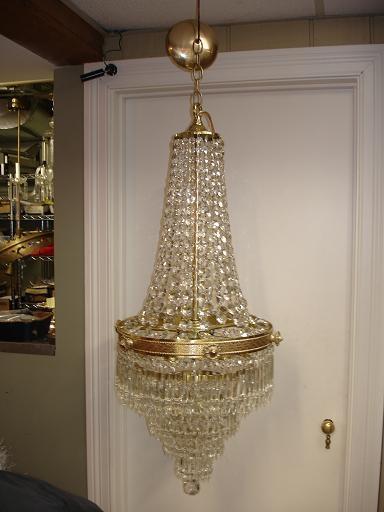 wedding cake fixture | butler brass | crystal replacement