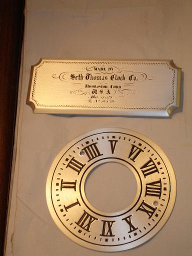 clock parts | restoration | satin silver | seth thomas